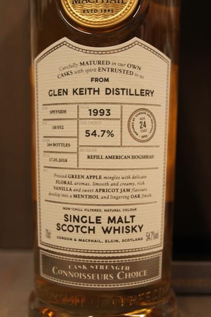 Glen Keith 1993 - Gordon & MacPhail - 54,7%-10334
