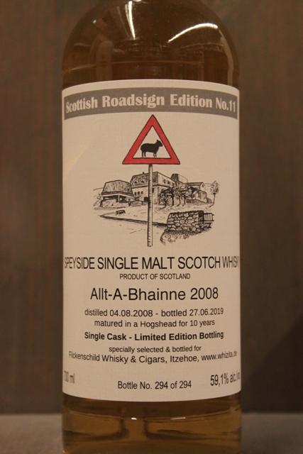 Allt-A-Bhainne 2008 Scottish Roadsign - 59,1%-6474