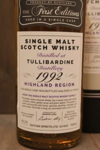 Tullibardine 1992 First Editions 41,1%-10597